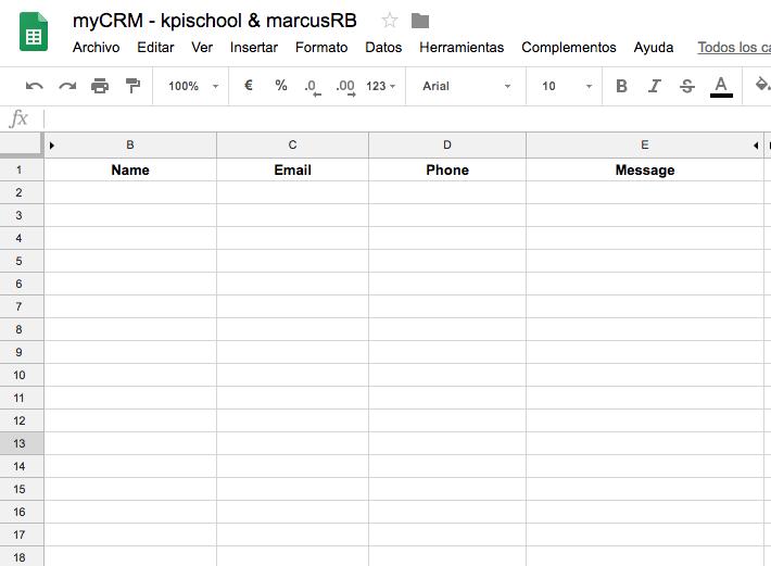 CRM en Google Sheets